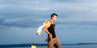 maui fire spinner Loki