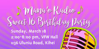 Mana'o Radio Sweet Sixteen Birthday Party