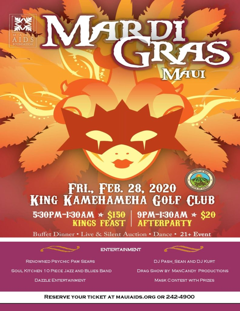 Maui Mardi Gras 2020 Maui AIDS Foundation