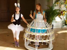 Alice in Wonderland champagne skirt
