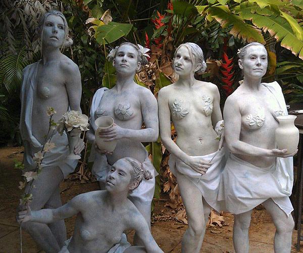bodypaint human statues