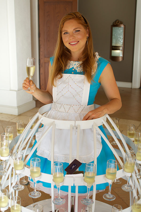 champagne alice in wonderland