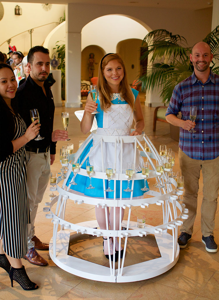 maui champagne skirt