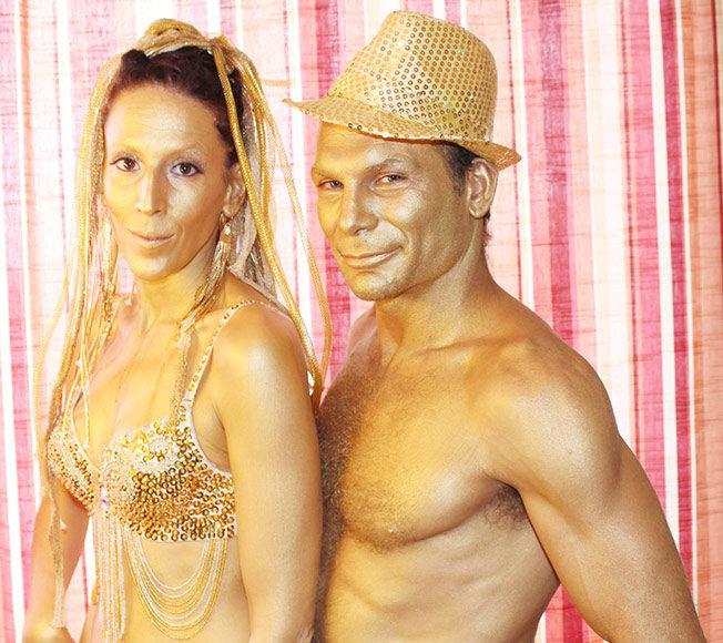 maui bodypaint statues