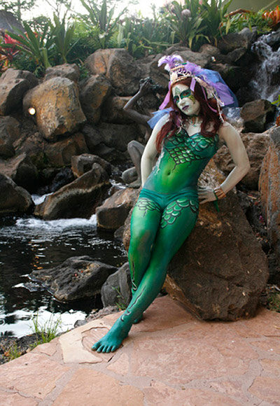 bodypainted mermaid