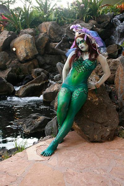 bodypainted mermaid