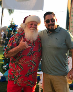 Hawaiian shirt Santa