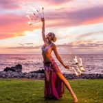 maui fire fan dancer