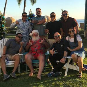 Hawaiian shirt Santa Claus