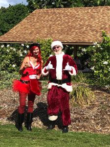 santa and helper