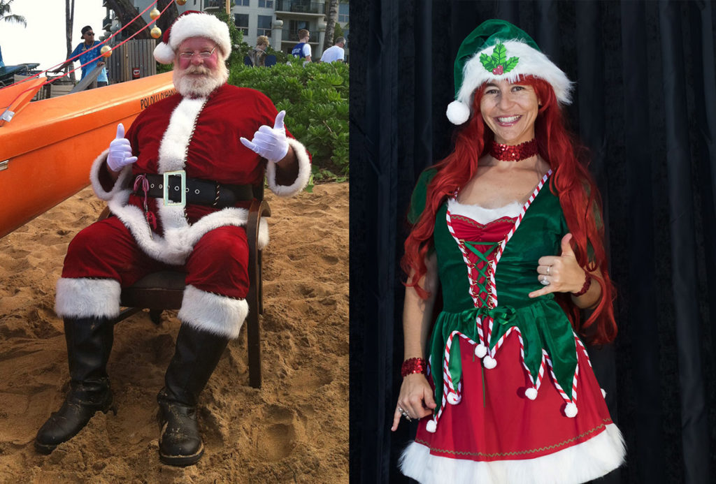 maui santa and elf
