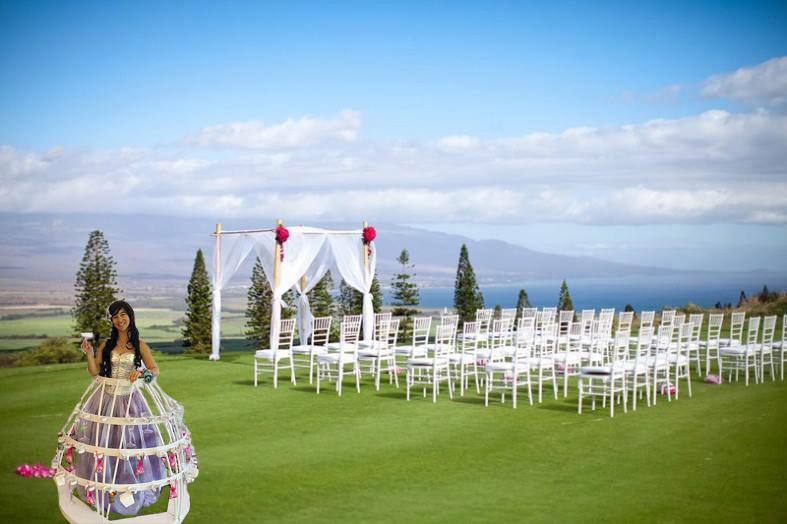 champagne skirt maui wedding expo