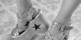 star platform sandals