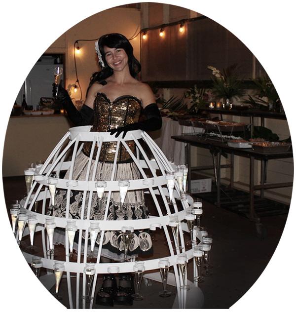 wedding champagne skirt